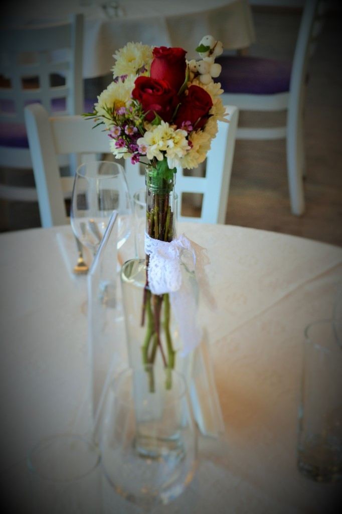 Aranjamente florale in sticlute