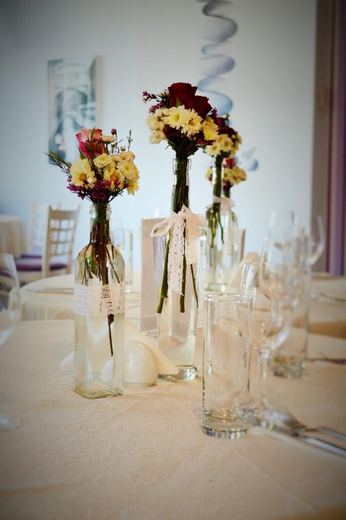 Aranjamente florale sticlute
