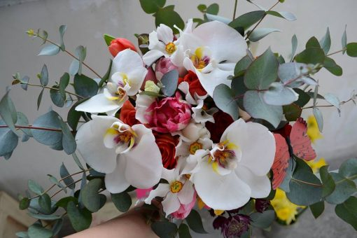 Buchet delicat cu phalaenopsis