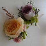 Cocarda din trandafir, Astilba/Blad coral fern, Alchemilla